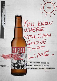 Feral Brewing Company beer ads designed by Block Branding.