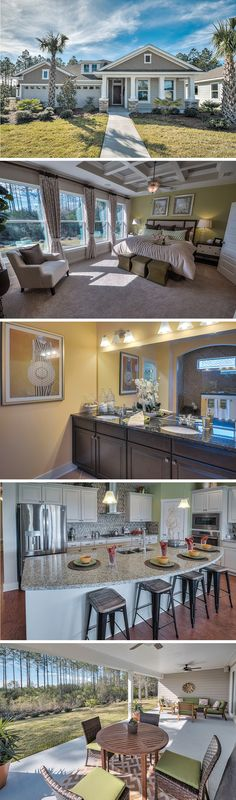 The Tracewood by David Weekley Homes in Breakfast Point is a 4 bedroom, 3 bathroom floorplan that features a large owners retreat with tray ceilings, a covered porch, and an open kitchen and family room layout. Custom home upgrades include extending the porch to a lanai, a super shower in the owners retreat or a pool bath.