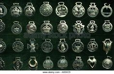 Brasses worn by heavy horses at the Peterborough Show, UK - Stock Image