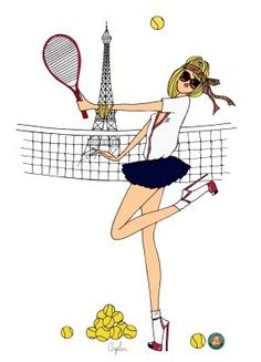 do it in paris illustrations angeline melin christmas Mode Tennis, Tennis Clubs, Tennis Racket, Tennis Party, Play Tennis, Sport Tennis, Rafael Nadal, Tennis Drawing, Tennis Posters