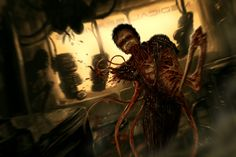 My Dead Space 1 and 2 concept art Cool Monsters, Horror Monsters, Dnd Monsters, Arte Horror, Horror Art, Creature Feature, Creature Design, 7th Dragon, Fantasy Demon