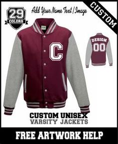 a040da5f8dd custom printed high school gift freshman jacket Varsity Jacket High School, Varsity  Letterman Jackets,