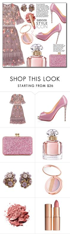 """classy by Sasoza"" by sasooza ❤ liked on Polyvore featuring Needle & Thread, Sophie Hulme, Guerlain, tarte and Charlotte Tilbury"