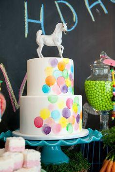Watercolour polka dot cake by Kiss My cakes. Photo by Fiona Handbury.