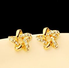Gold and Shine Star Earrings | LilyFair Jewelry, $10.99!