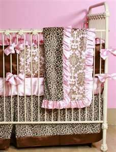Pink And Leopard Baby Bedding