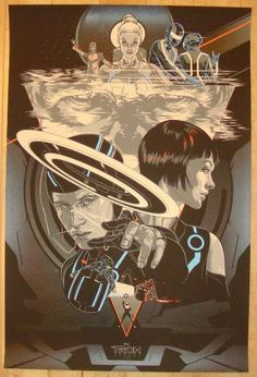 "2012 ""Tron: Legacy"" - Silkscreen Movie Poster by Martin Ansin"