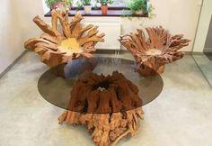 Tree root furniture! Beautiful .