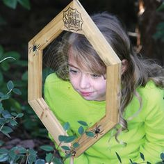 Garden Spider Web Frame. There's other really neat things on this website for kids to enjoy!