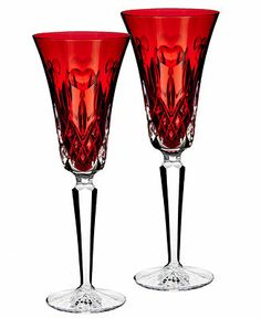 Waterford Toasting Flutes, Set of 2 I Love Lismore Red - Glassware & Stemware - Dining & Entertaining - Macy's