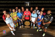 Photo officielle des capitaines du #TOP14, saison 2014-2015. ©JP Pariente/31 Mille/LNR