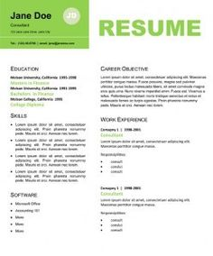 professional resume design for non designers education