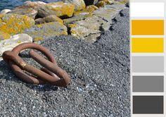 VANBINNEN, kleurenpalet geel/grijs