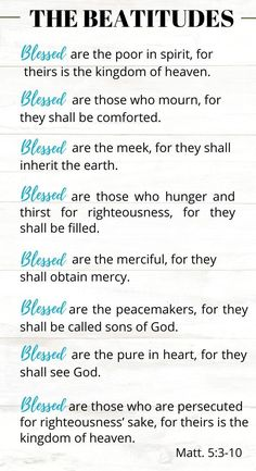 The beatitudes in the Bible come with a blessing! Come learn the importance of each beatitutde as they are explained in this study of the 8 beatitudes! Bible Quotes, Bible Verses, Irish Quotes, Healing Scriptures, Scripture Study, Biblical Quotes, Healing Quotes, Prayer Quotes, Heart Quotes