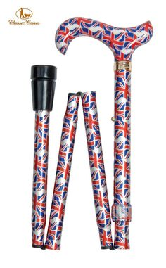British Union Flag - Folding Cane *** See this great image  : Camping stuff