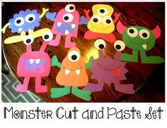 Monster Cut and Paste Set that includes directions and patterns to make 7 different monsters! Great for room décor and bulletin boards!