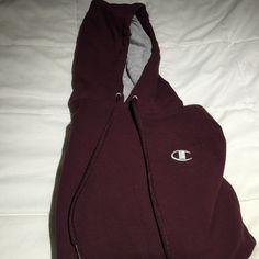 Champion hoody Maroon champion hoody. Mens small but fits women's small. Rarely worn. Like new. Champion Jackets & Coats