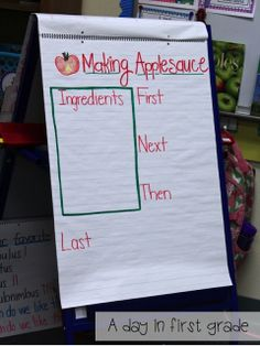A day in first grade: How to make applesauce in your classroom {recipe included}