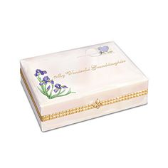 Cherished Daughter-In-Law Collectible Porcelain Music Box Daughter In Law, My Darling, Music Boxes, Trinket Boxes, Decorative Boxes, Porcelain, Bradford Exchange, Lettering, Gifts