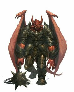 Pit Fiend Overlord - Pathfinder PFRPG DND D&D d20 fantasy