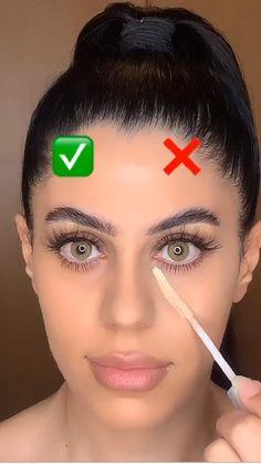 Contour Makeup, Skin Makeup, Beauty Makeup, Nose Contouring, Bronzer Vs Contour, Make Up Contouring, Hair And Makeup, Concealer, Eyebrow Makeup Tips