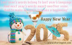"""Hope Smiles from the threshold of the year to come, Whispering 'it will be happier'."" #HappyNewYear2015 #LiveLoveLaugh  #LiveHappy #Sharingpick Share with ur friends."