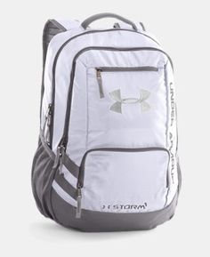 fa91b90e9c Under Armour Hustle Backpack II in White  Graphite Silver 1263964