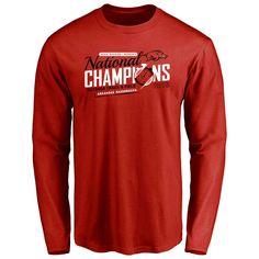 Arkansas Razorbacks 2016 NCAA Women's College Outdoor Track & Field Champions Long Sleeve T-Shirt - Cardinal - $27.99