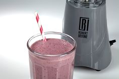 Robert Irvine's Pomegranate Berry Twist on a Strawberry Banana Smoothie