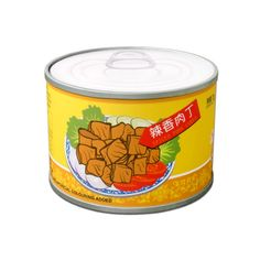 Spicy Pork Cubes Canned Food Stool / Low Table Low Tables, Cube Storage, Food Illustrations, Coffee Cans, Cubes, Dog Bowls, Home Accessories, Spicy, Unique Gifts