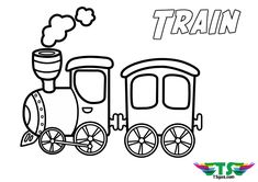 Train coloring page for preschool and toddlers. tsgos.com Train Coloring Pages, Fall Coloring Pages, Preschool Coloring Pages, Animal Coloring Pages, Printable Coloring Pages, Coloring Pages For Kids, Coloring Sheets, Coloring Books, Kids Coloring
