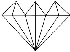 simple diamond drawing - Google Search                                                                                                                                                                                 More
