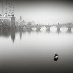 Karlův most, Study 2, Prague, Czech Republic, 2015 (b/w photo) / Photo © Ronny Behnert / Bridgeman Images