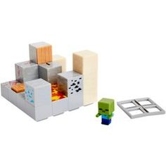 Minecraft Pisto Push Mini Figure Environment Set