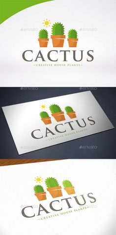 Cactus - Logo Design Template Vector #logotype Download it here: http://graphicriver.net/item/cactus-logo-template/12268595?s_rank=607?ref=nesto