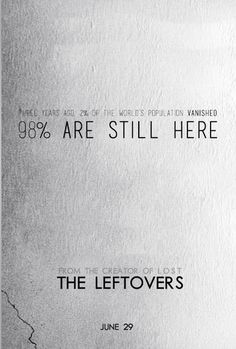 Image result for the leftovers minimalist poster