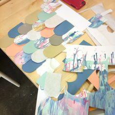paper feathers workshop - Laura Blythman Studio