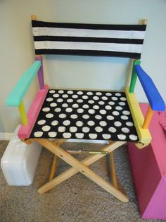 Jez4U Adorable Handpainted NEW Directors Chair made fun by Jez4U, $125.00