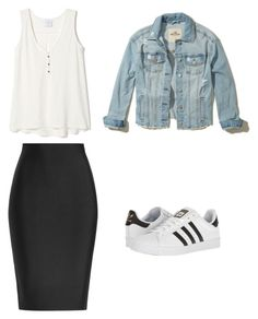 """""""Untitled #9"""" by lmtv on Polyvore featuring Roland Mouret, Hollister Co. and adidas"""