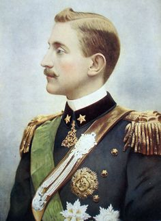 Prince Emanuele Filiberto of Savoy-Aosta, 2nd Duke of Aosta (1869 – 1931) was a member of the House of Savoy, Crown Prince of Spain from 1870 to 1873, & a cousin of Victor Emmanuel III of Italy. He was born in Genoa the eldest son of Prince Amadeo of Savoy, Duke of Aosta & his first wife Donna Maria Vittoria dal Pozzo della Cisterna. In 1870 his father was elected king of Spain &Emanuele Filiberto became the Crown Prince of Spain.