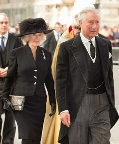 Camilla, Duchess of Cornwall and Prince Charles, Prince of Wales attend a service of thanksgiving for Lady Soames at Westminster Abbey on 20.11.2014 in London, England.