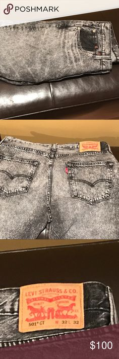 🔥Rare🔥 Levi's Bulldog 501 shrink to fit jeans From the men at work collection. I'm not sure where to even find these, they were released so long ago. Worn exactly one time. No signs of wear so I would consider these to be in pristine condition. Trade for something equally 🔥 or paid (reasonable offers only, since I'm sad to see them go) Levi's Jeans Bootcut