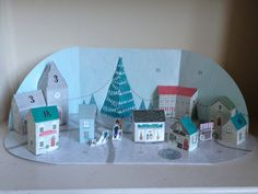 Build a town advent calendar - day 18 sees the addition of a guest house (so you're all welcome to come and stay)