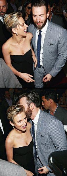 Chris Evans & Scarlett Johansson.