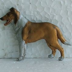 Smooth Collie Sable Brooch Dog Breed Jewellery Handpainted Handcrafted Resin