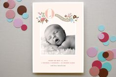 This site has the BEST looking birth announcements! | Minted