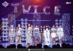 [BY 엠넷] [엠카 MOMENT] 180719 엠카운트다운 현장포토 청량 썸머퀸! ′트와이스′의 ′Dance The Night A... Concert Stage, Stage Outfits, Dance The Night Away, Nayeon, Kpop