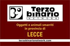 Oggetti e animali smarriti in provincia di Lecce