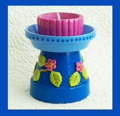 Pedestal Candle Holder no2 by RFColorfulCreations on Etsy, $12.00