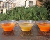 Set of 4 Brilliant Blendo Juice Glasses. $25.00, via Etsy.